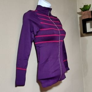 Long Sleeve Zip Up Top Womens One Size